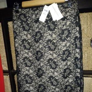 Banana republic lace overlay skirt